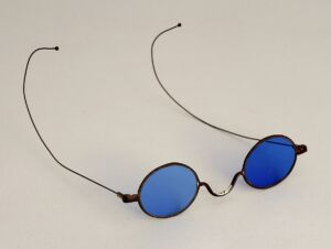 James Aycough's Blue Tinted Glasses history of sunglasses