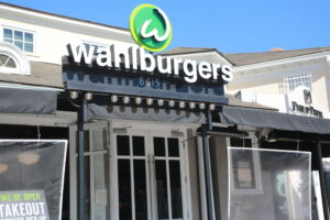 dining at sunset plaza wahlburgers