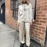 shanghai embroidery shirt with sophia embroidery pant